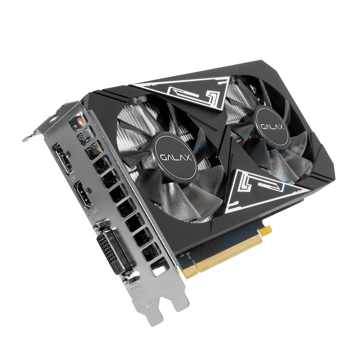 Placa de Vídeo Galax GeForce GTX 1650 EX Plus (1-Click OC), 4GB, GDDR6, 128 Bits - 65SQL8DS93E1