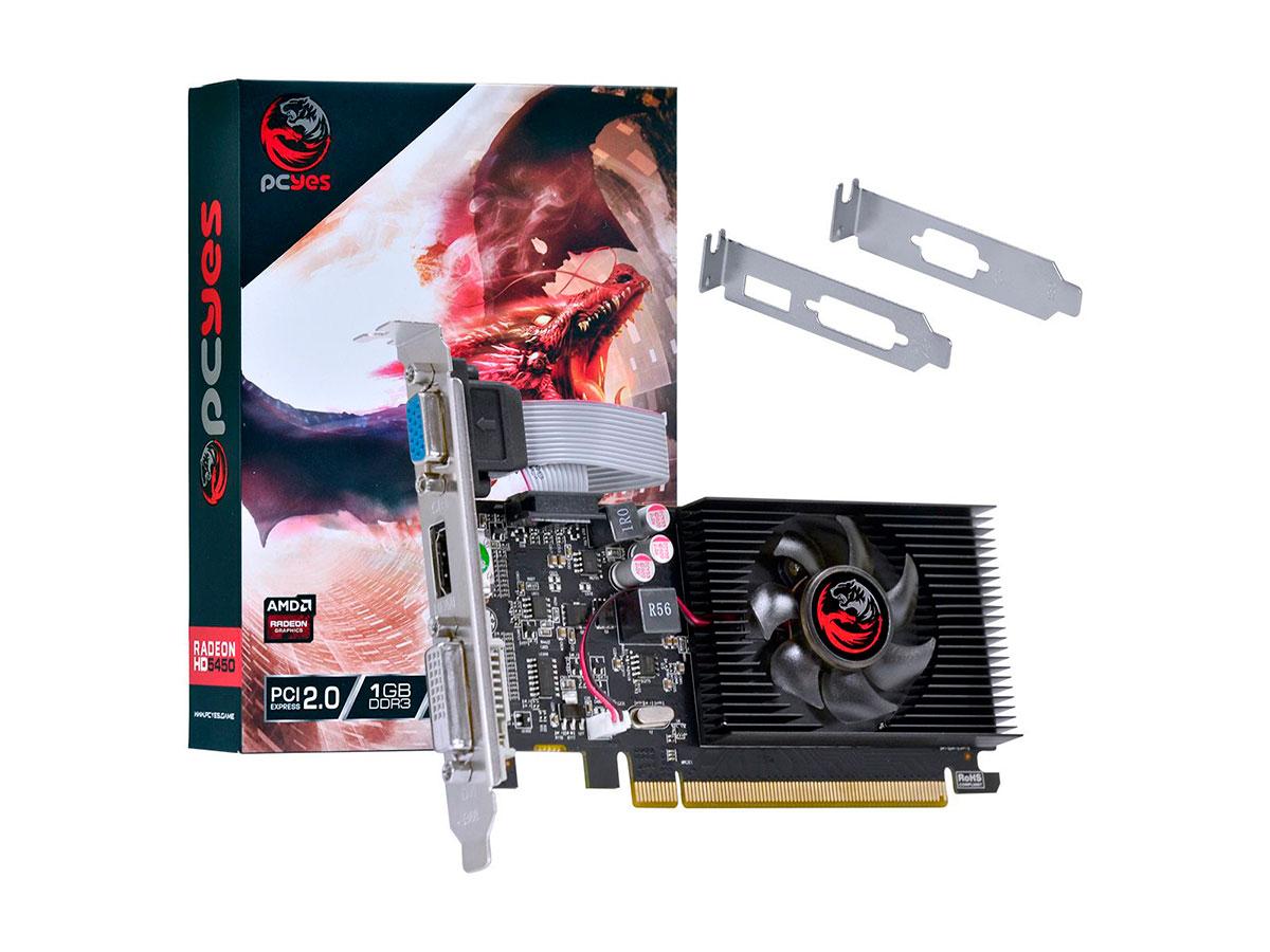 Placa de Vídeo PCYes AMD Radeon HD 5450, 1GB, DDR3, 64 Bits - PJ54506401D3LP