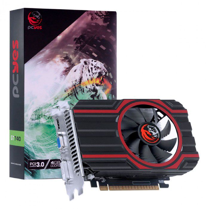 Placa de Vídeo PCYes GT 740 4GB DDR5 128 Bits - PA740GT12804D5FZ