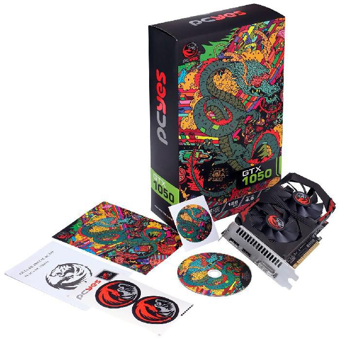 Placa de Vídeo PCYes GTX 1050 Graffiti Series 2GB GDDR5 PA1050GTX12802G5