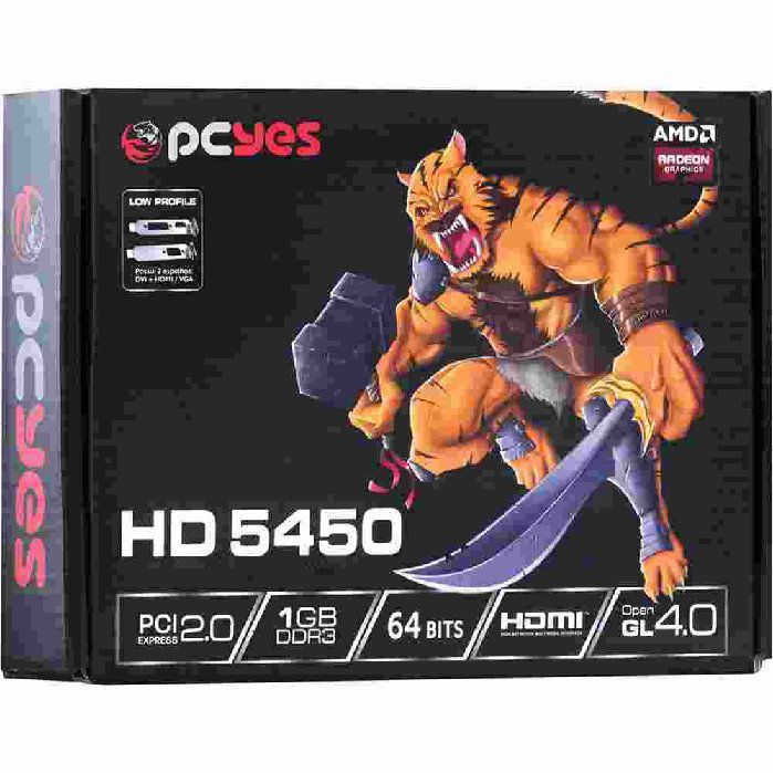 Placa de Vídeo PcYes Radeon HD 5450 PS54506401D3LP