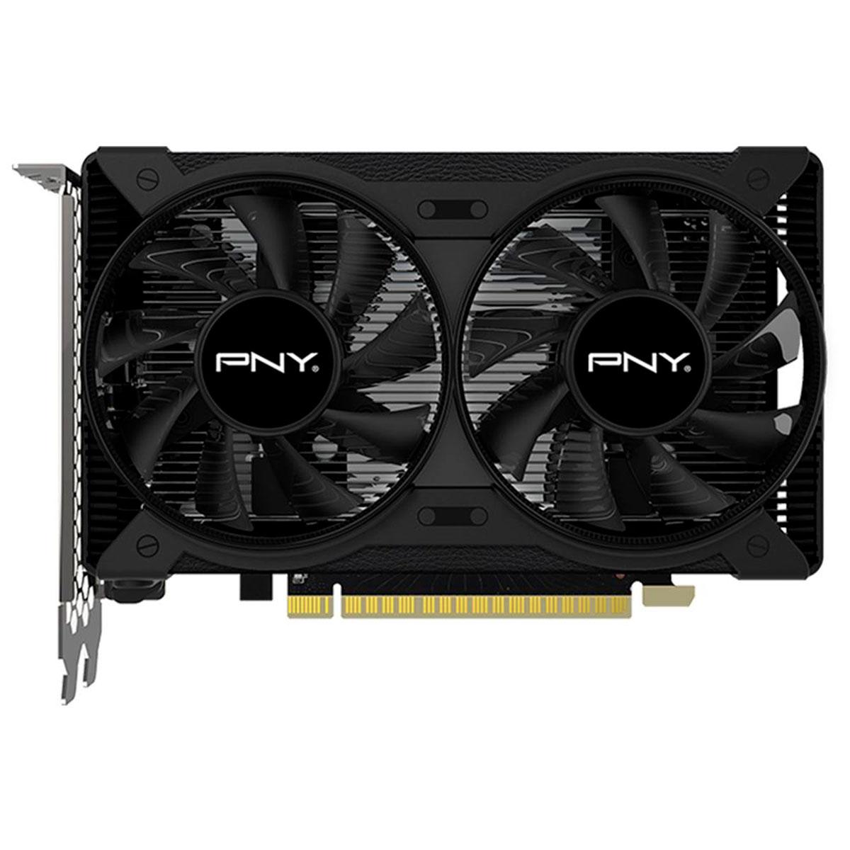 Placa de Vídeo PNY GTX 1650 4GB, Dual Fan, DDR6, 128 Bit,  HDMI, Display Port - VCG16504D6DFPPB