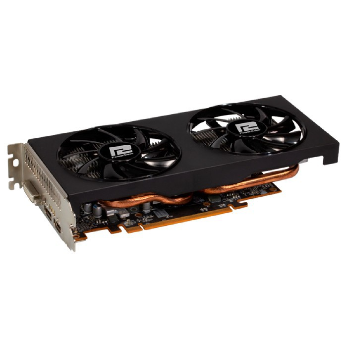 Placa de Vídeo Power Color Radeon RX 5500 XT 4GB GDDR6 128 Bits PCI-E 4.0 - AXRX5500XT 4GBD6-DH/OC