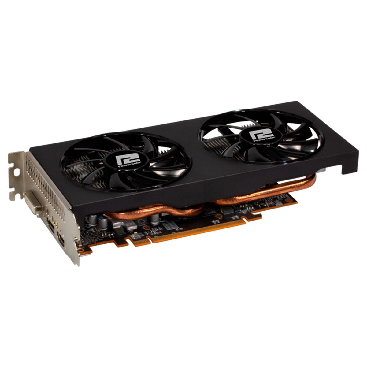 Placa de Vídeo Power Color Radeon RX 5500 XT 4GB GDDR6 128 Bits PCI-E 4.0 - AXRX5500XT 4GBD6-DH/OC