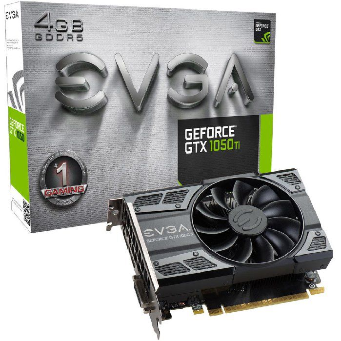 Placa de Vídeo VGA NVIDIA EVGA GEFORCE GTX 1050 TI Gaming 4GB DDR5 04G-P4-6251-KR