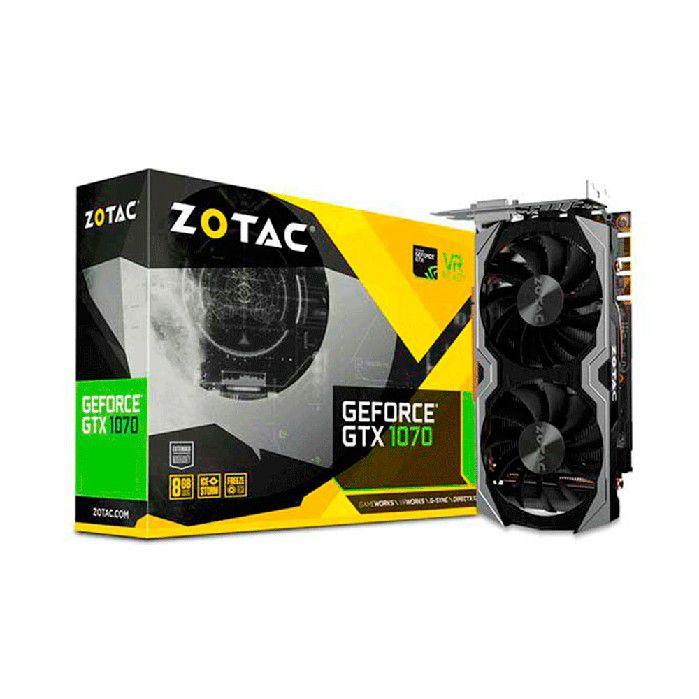 PLACA DE VIDEO ZOTAC GEFORCE GTX 1070 MINI 256BITS 8GB - ZT-P10700G-10M