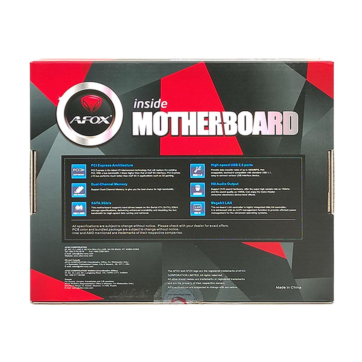 Placa Mãe AFOX IH310C-MA2, Intel 8º e 9º Geração LGA1151, DDR4 - mATX