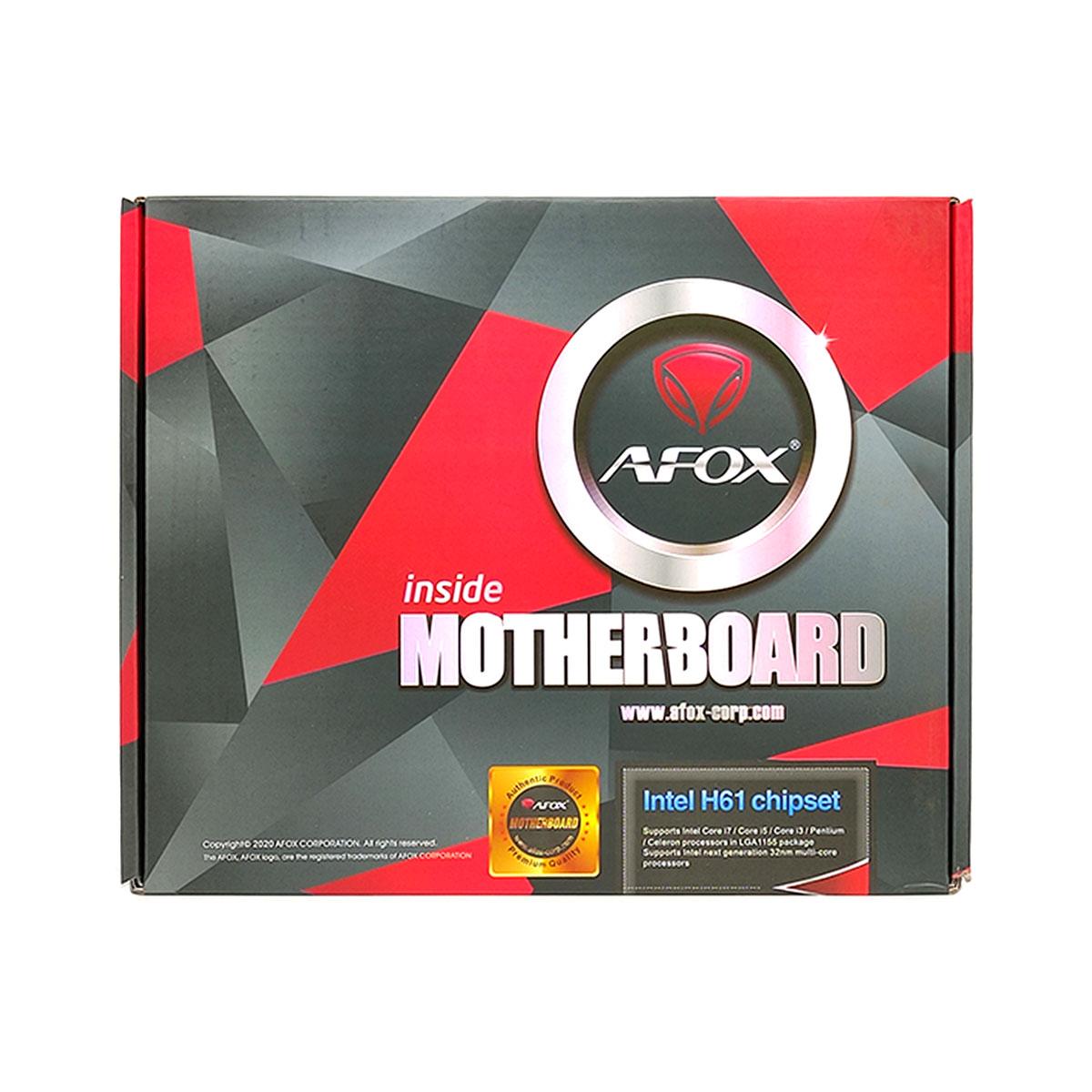 Placa Mãe AFOX IH61-MA5, Intel LGA 1155 (2º Ger e 3º Ger), DDR3