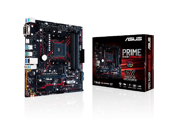 Placa Mãe Asus B450M-GAMING PRIME AMD Socket AM4 DDR4 mATX