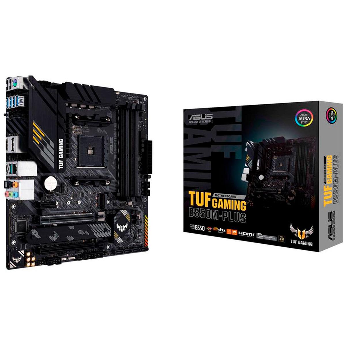 Placa Mãe Asus TUF Gaming B550M-PLUS, AMD AM4, DDR4, mATX