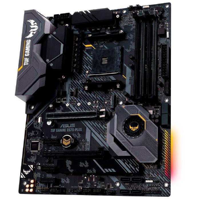 Placa Mãe Asus TUF Gaming X570-PLUS/BR AMD DDR4 Socket AM4