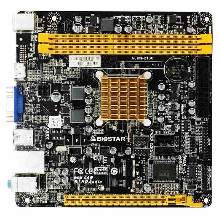 Placa Mae Integrada Biostar A68n2100 Amd Dual