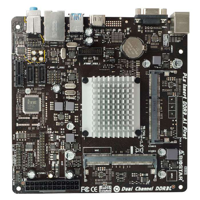 Placa Mae Integrada Biostar J3060nh Dual Intel Ddr3