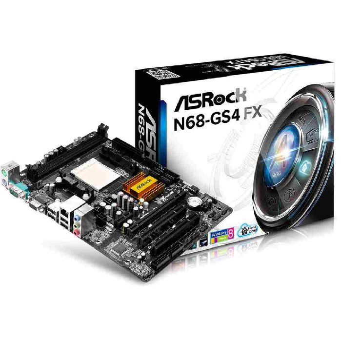 Placa Mãe N68-GS4 FX AM3+ ASRock  DDR3 NVidia GeForce 7025