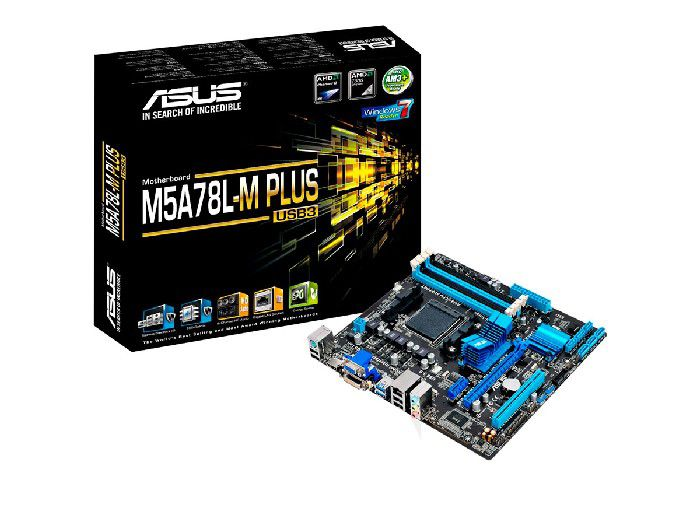 Placa Mãe P/AMD Asus M5A78L-M PLUS/USB3 AM3+