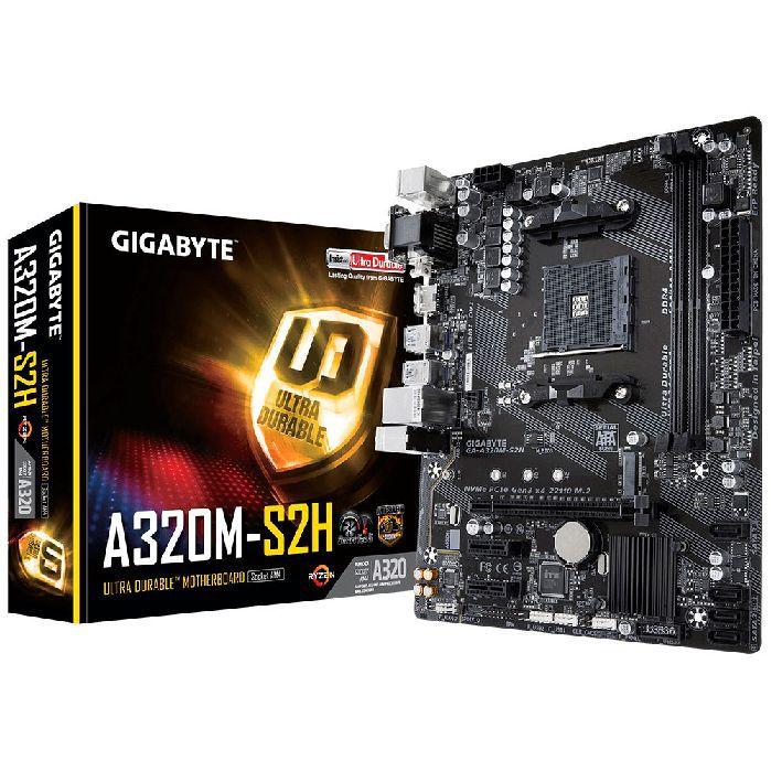 Placa Mae P/ AMD Gigabyte Ga-a320m-s2h Ddr4 Am4