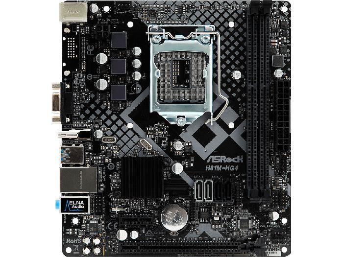 Placa Mãe P/Intel Asrock H81M-HG4 R4.0 Lga 1150 Microatx