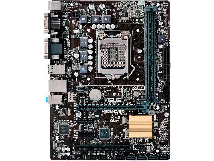 Placa Mãe P/Intel Asus H110M-C/BR LGA 1151 32GB DDR4 USB 3.0 x