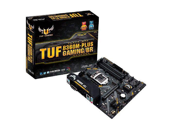 Placa Mãe P/Intel Asus TUF B360M-PLUS GAMING/BR 4 Slots DDR4 Lga1151