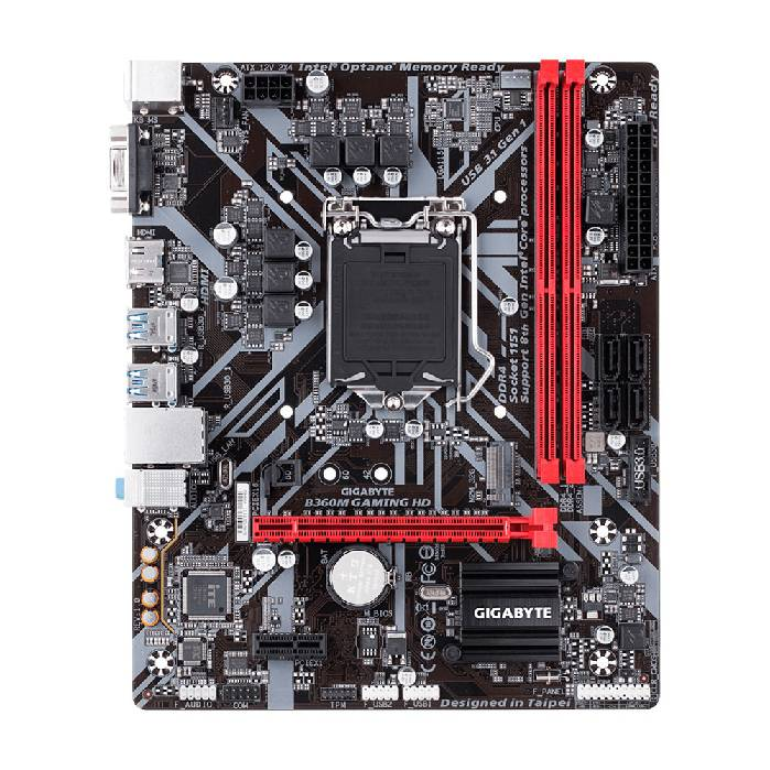 Placa Mae P/ intel Gigabyte B360m Gaming Hd Ddr4 Coffee Lake Lga1151