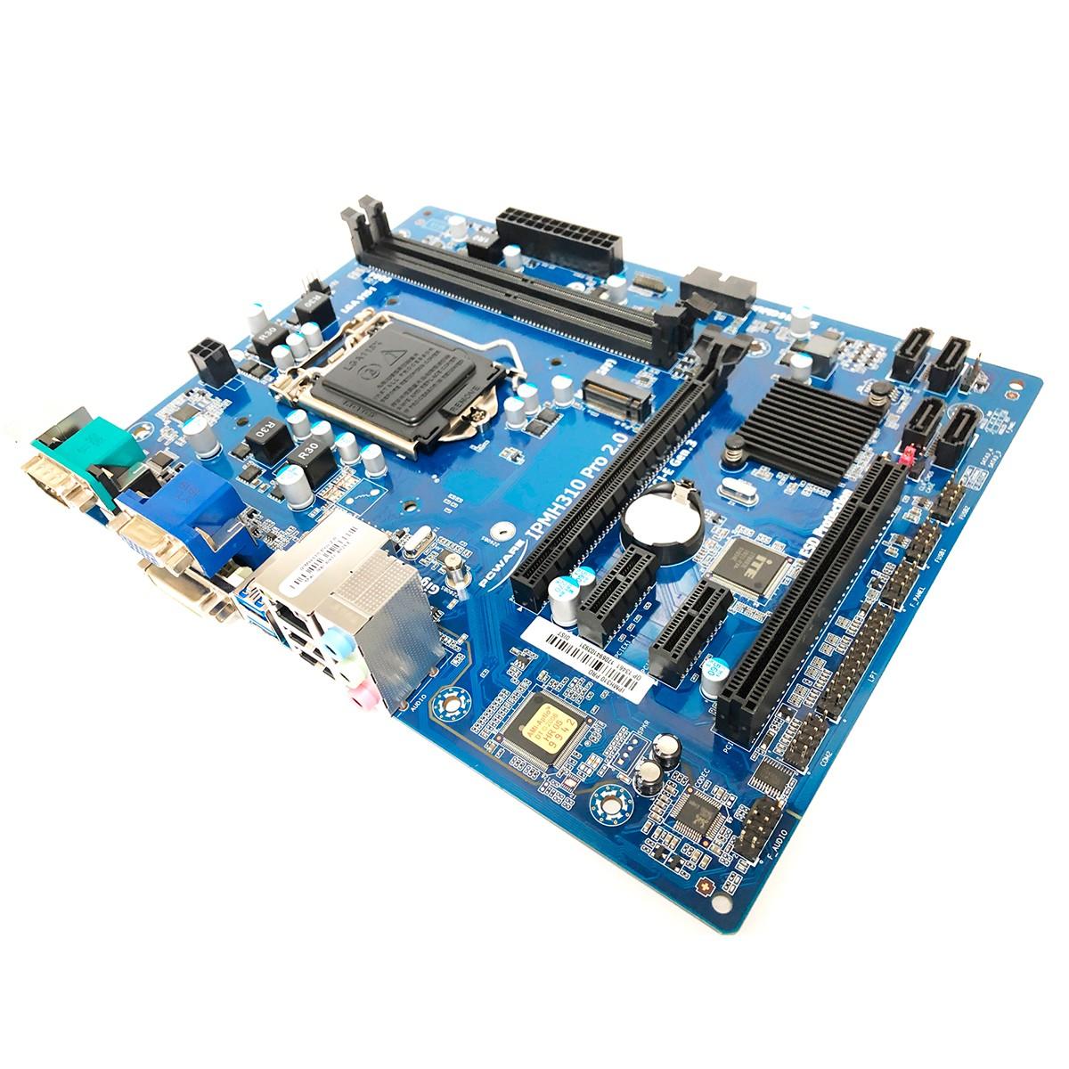Placa Mãe Pcware IPMH310G PRO R.2 Intel 8º e 9º Geração DDR4 LGA1151 OEM