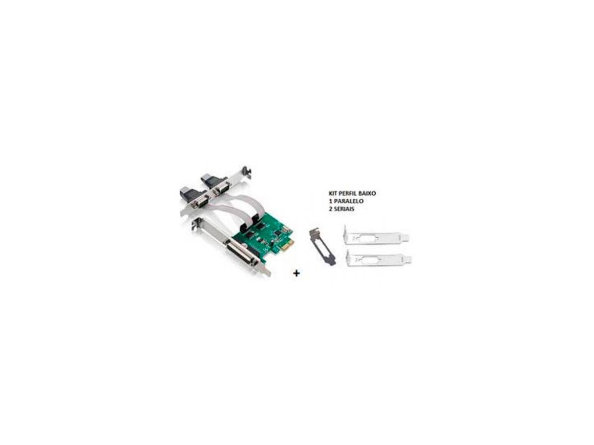Placa Pci-E Controladora 2 Serial + 1 Paralela (C/ Kit Low Profile) Gv PCI.076