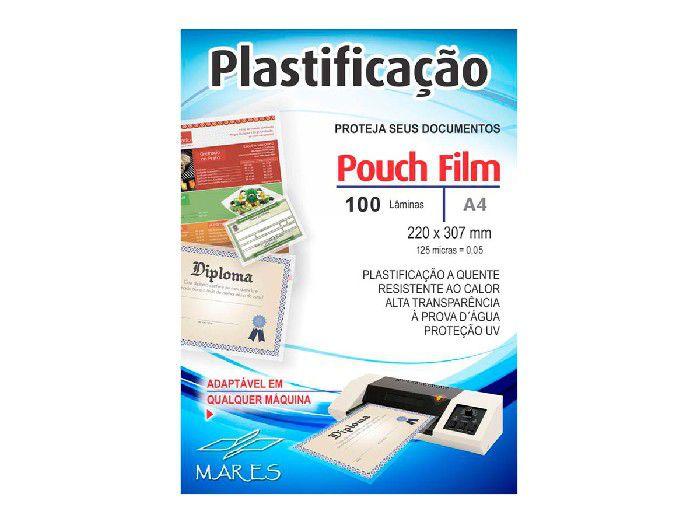 Pouch Film Plastificação 0,5 A4 Contém 100 Lâminas - Mares