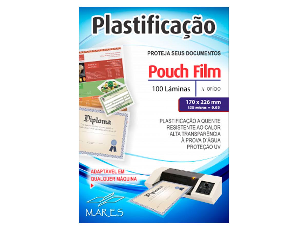 Pouch Film Plastificação 0,5 Meio Oficio Contém 100 Lâminas - Mares