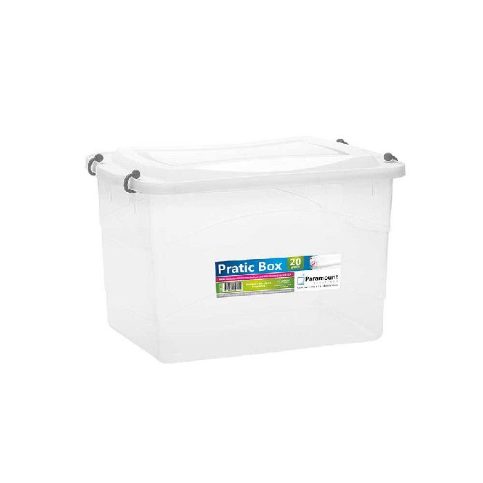 PRATIC BOX PARAMOUNT  CINZA 20LTS/ 41 X 29 X 25 CM - 151