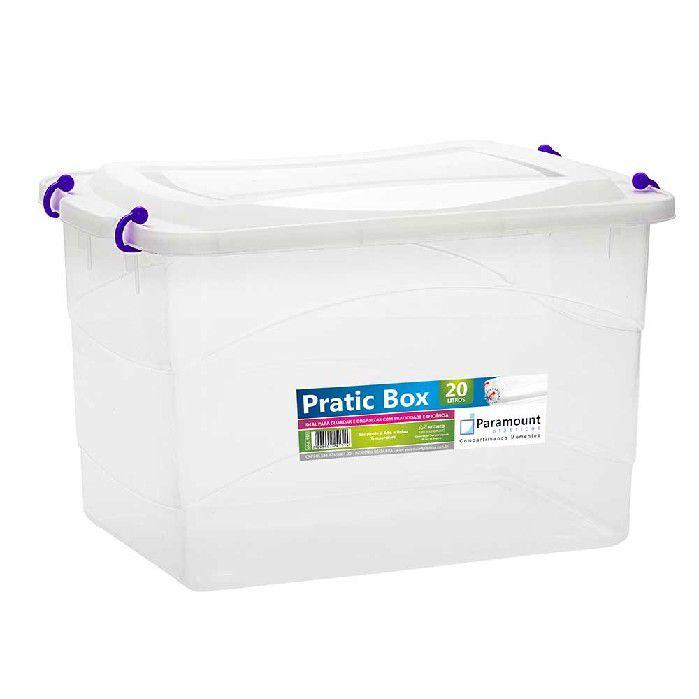 PRATIC BOX PARAMOUNT  ROXO 20LTS/ 41 X 29 X 25 CM - 151