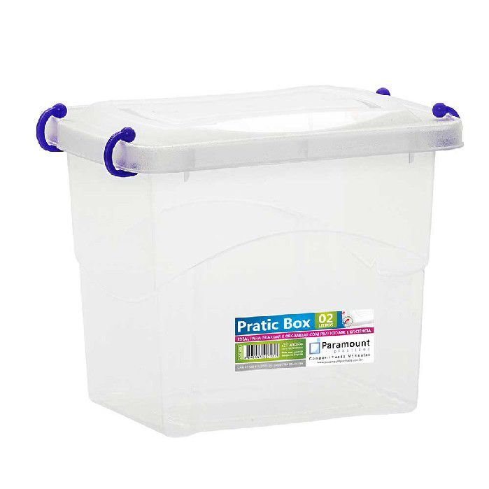 PRATIC BOX PARAMOUNT ROXO 2LTS - 409