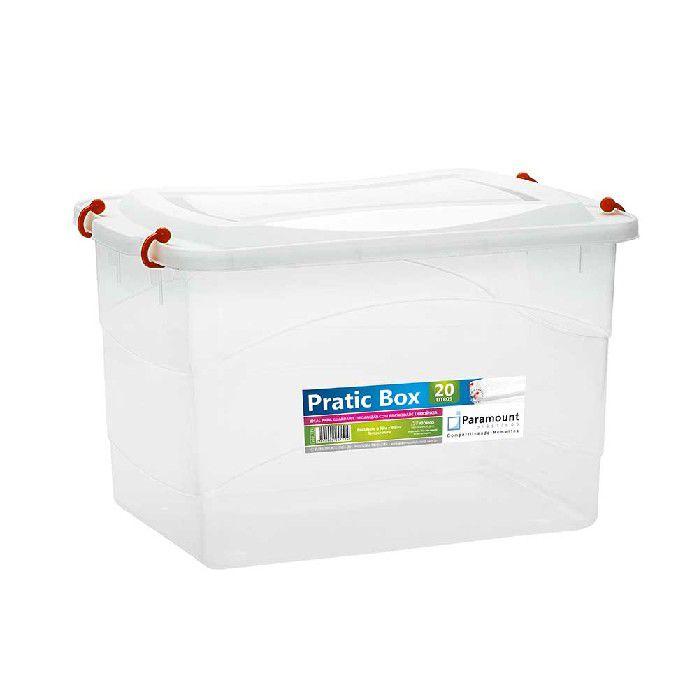 PRATIC BOX PARAMOUNT  VERMELHA 20LTS/ 41 X 29 X 25 CM - 151