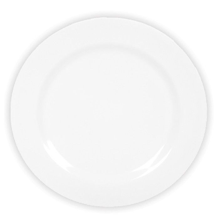 Prato Raso Melamine Yangzi Branca 25cm - 2972