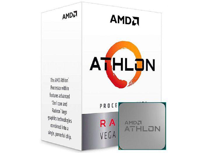 Processador Amd Athlon 240GE Dual Core 3.5Ghz 5Mb Am4 YD240GC6FBBOX