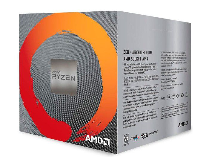 Processador AMD Ryzen 5 3400G 3.7GHz (4.2GHz Max Turbo) Cache 6MB AM4 YD3400C5FHBOX