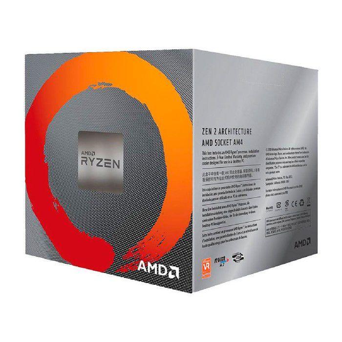 Processador AMD Ryzen 7 3700X 3.6GHz (4.4GHz Max Turbo) DDR4 AM4 36MB Cooler Wraith Prism RGB LED