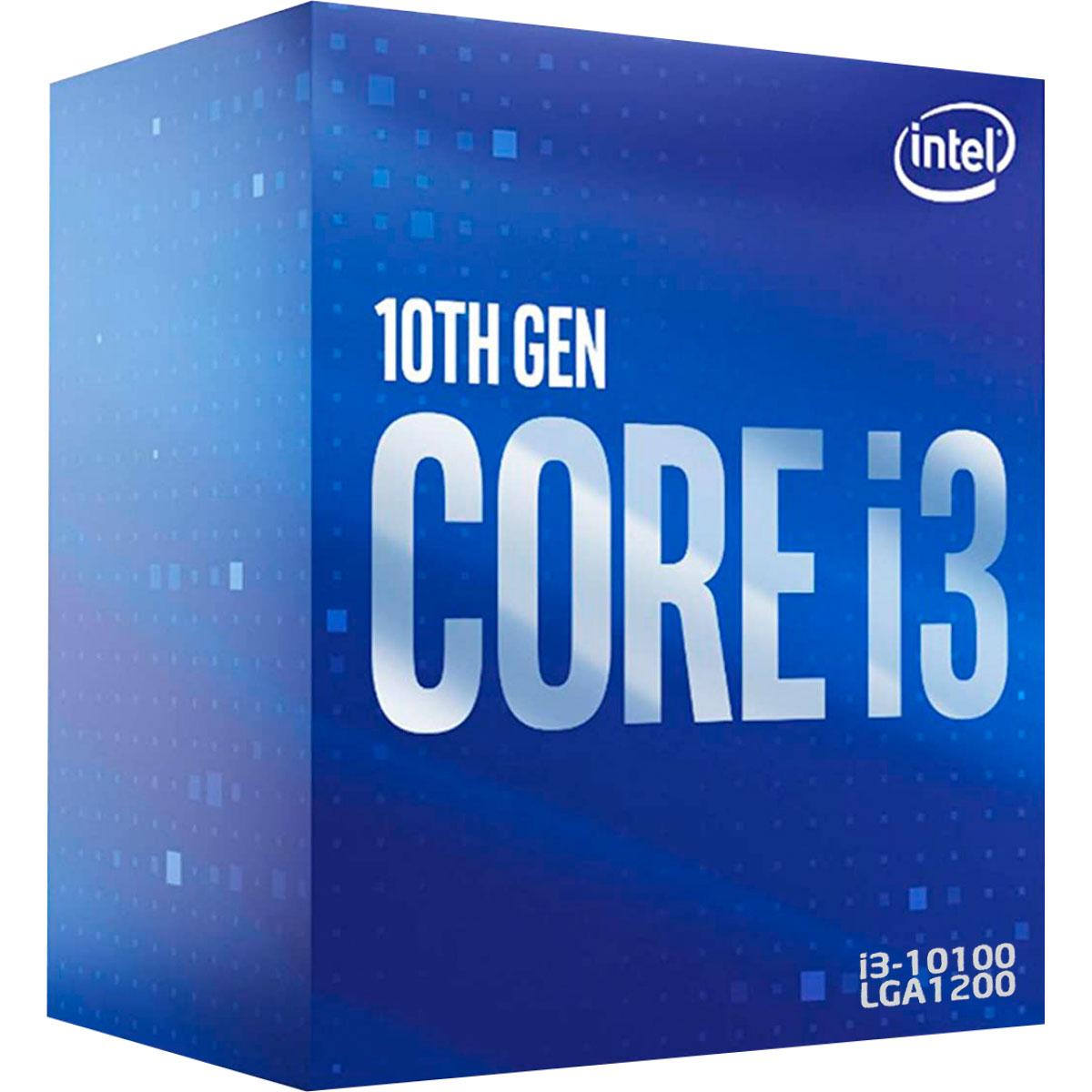 Processador Intel Core I3-10100 3.60GHz (4.3GHz Turbo) Quad Core LGA1200 6MB Cache - BX8070110100