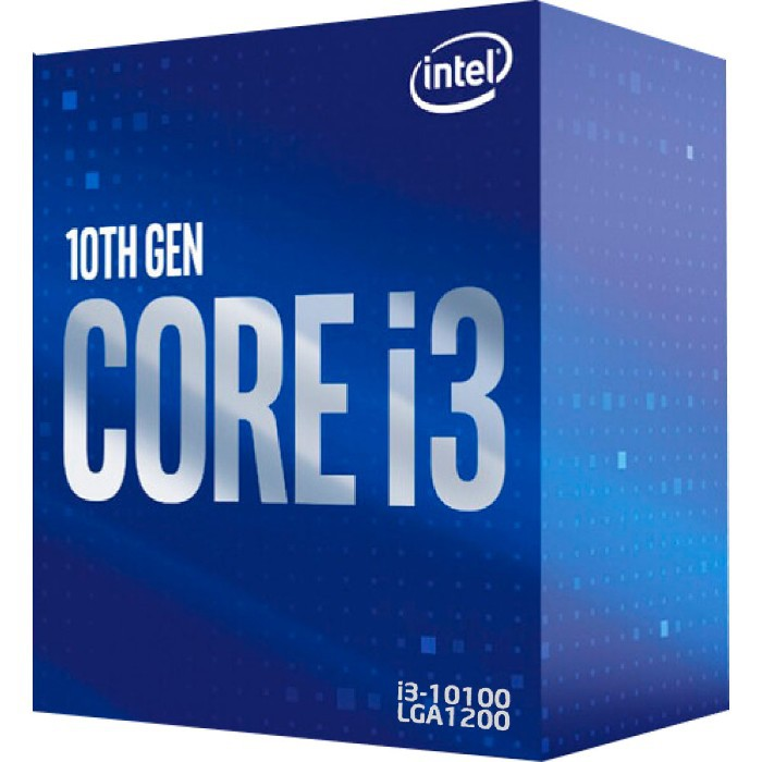 Processador Intel Core I3-10100 3.60GHz (4.3GHz Turbo) Quad Core LGA1200 6MB Cache - BX8070110100