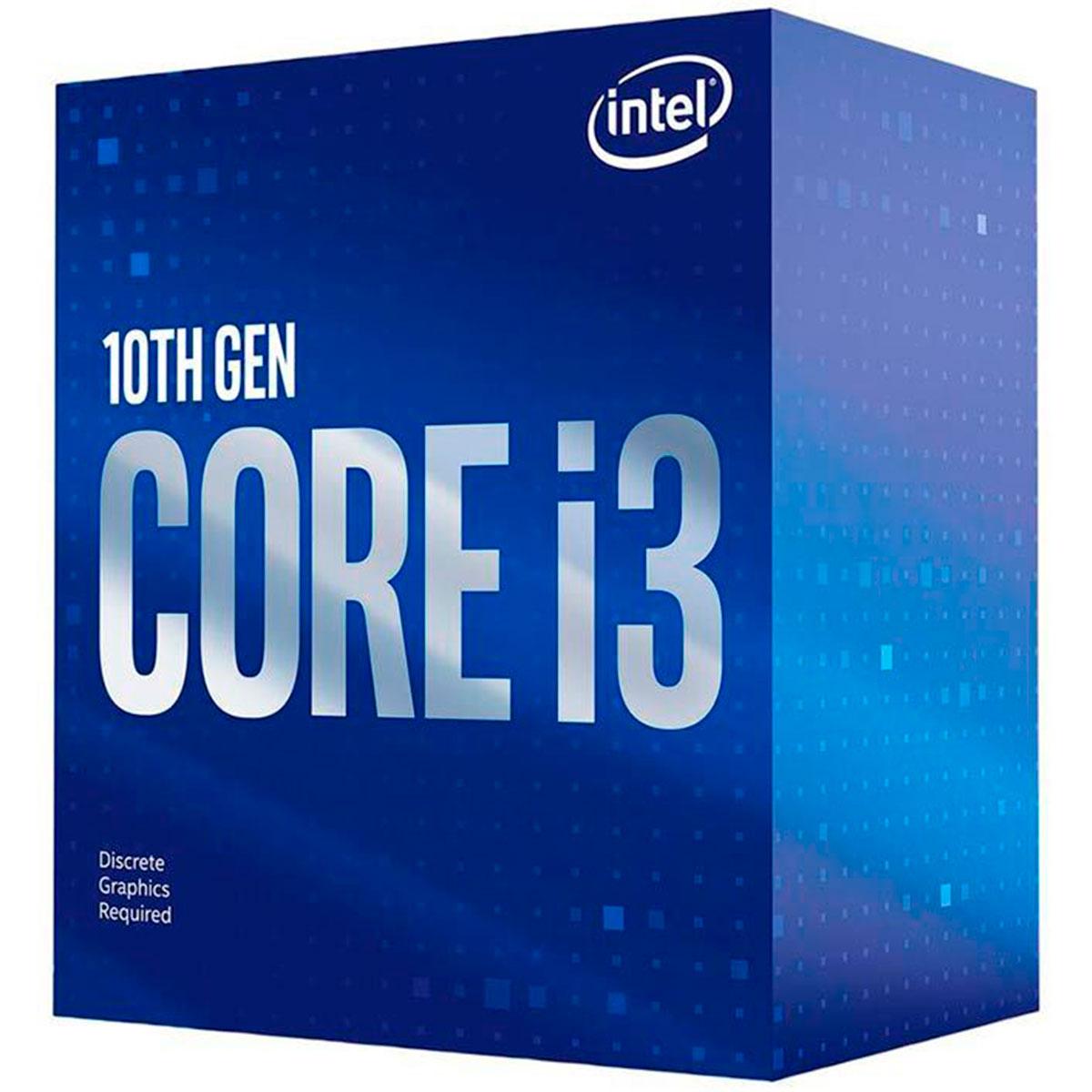 Processador Intel Core I3-10100F 3.60GHz (4.3GHz Turbo) Quad Core LGA1200 6MB Cache - BX8070110100F