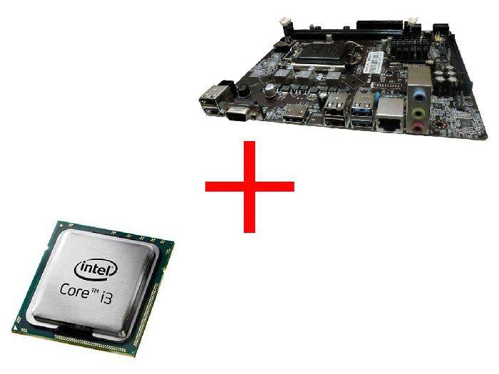 Processador Intel Core I3-4130 3.40ghz Lga1150 Oem + Placa Mae H81 Bpc