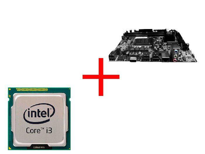 Processador Intel Core I3-550 3.20ghz Lga1156 + Placa Mae Bpc H55m-v1