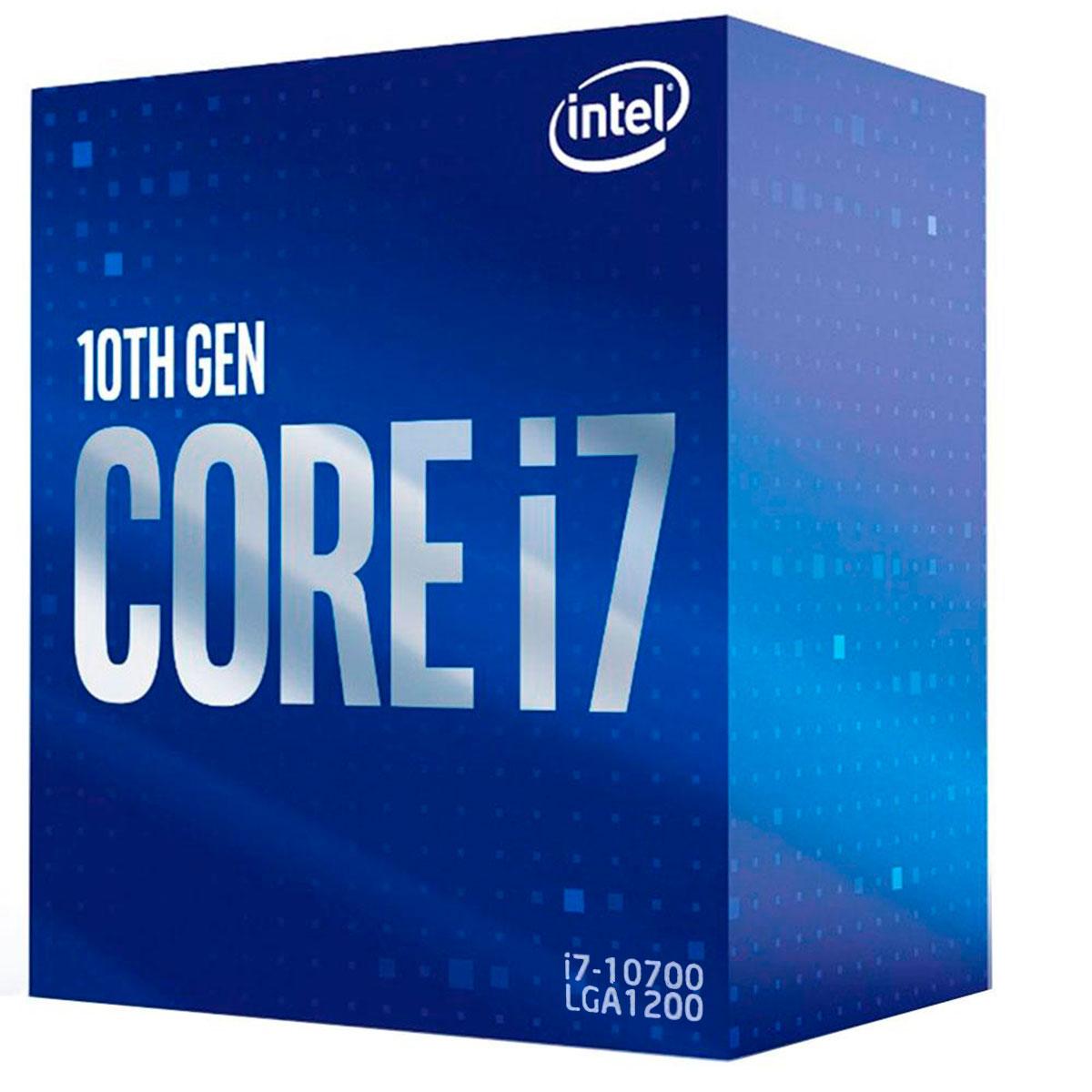 Processador Intel Core I7-10700 2.90GHz (4.8GHz Turbo) Octa Core LGA1200 16MB Cache - BX8070110700