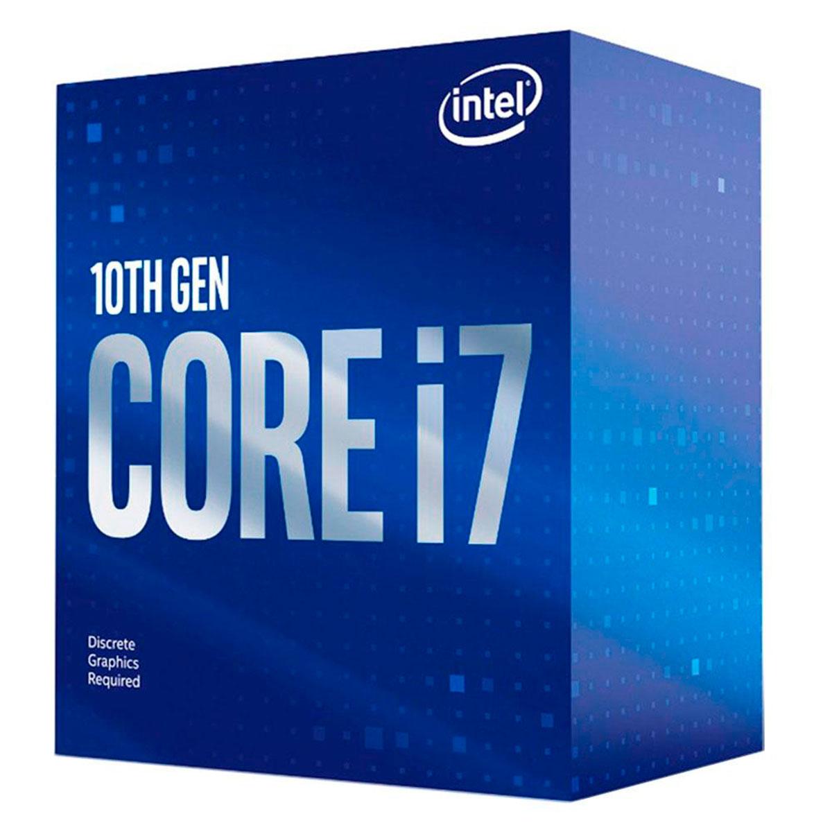 Processador Intel Core I7-10700F, 10ª Geração, 2.9GHz (4.8GHz Turbo), LGA1200, 16MB - BX8070110700F