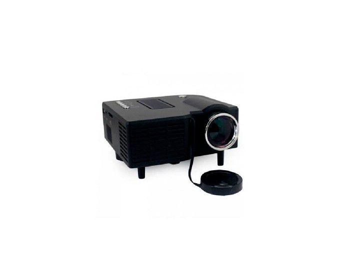 Projetor Led Uc28 Mini (hdmi/usb/av/serial/audio) 48-lumens Preto Box