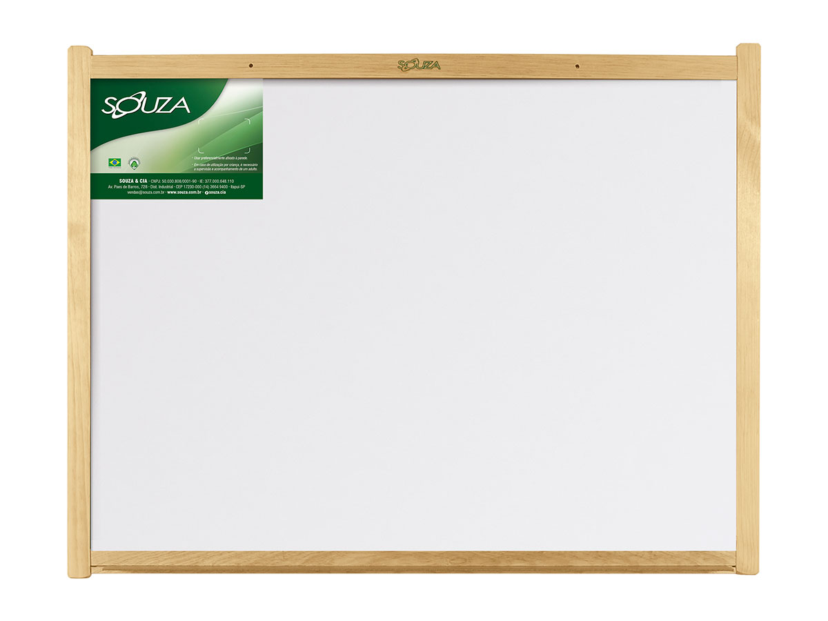Quadro Branco Standard Moldura de Madeira Luxo 120 X 90 cm Souza - 6122