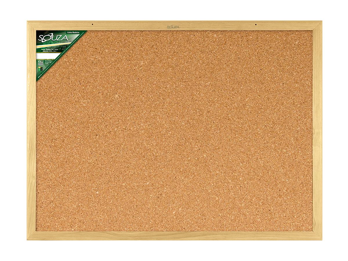 Quadro de Cortiça Standard Moldura de Madeira Luxo 80 x 60 cm Souza - 3284