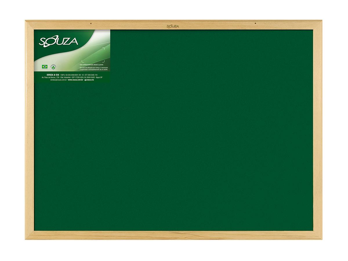Quadro Verde Standard Moldura de Madeira Natural 70 x 50 cm Souza - 2207