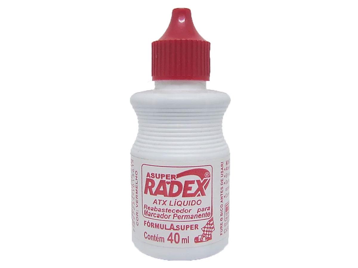 Reabastecedor para Marcador Permanente Atx de 40ml Vermelho Caixa Com 12 - Radex