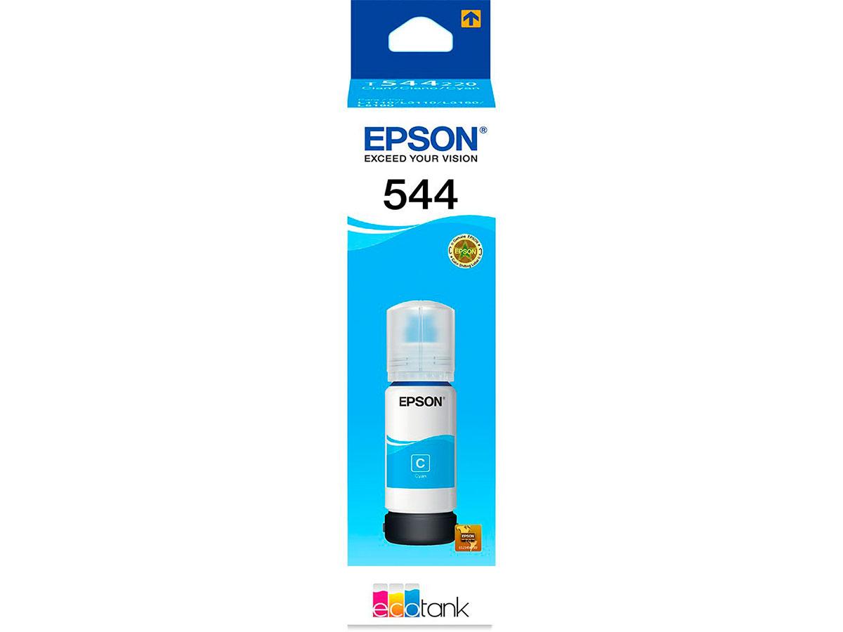 Refil de Tinta Epson T544 Ciano 65ML para Impressoras L3110 / L3150 / L5190 - T544220
