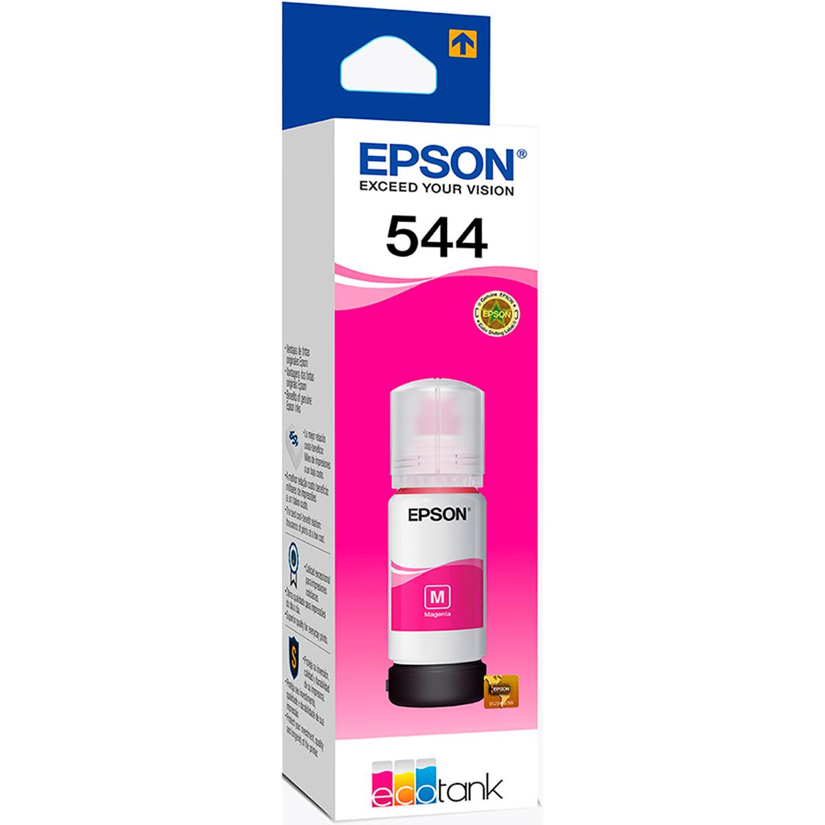 Refil de Tinta Epson T544 Magenta 65ML para Impressoras L3110 / L3150 / L5190 - T544320